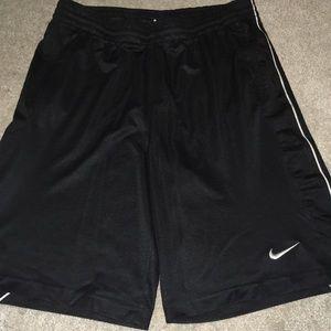 Retro black Nike athletic shorts